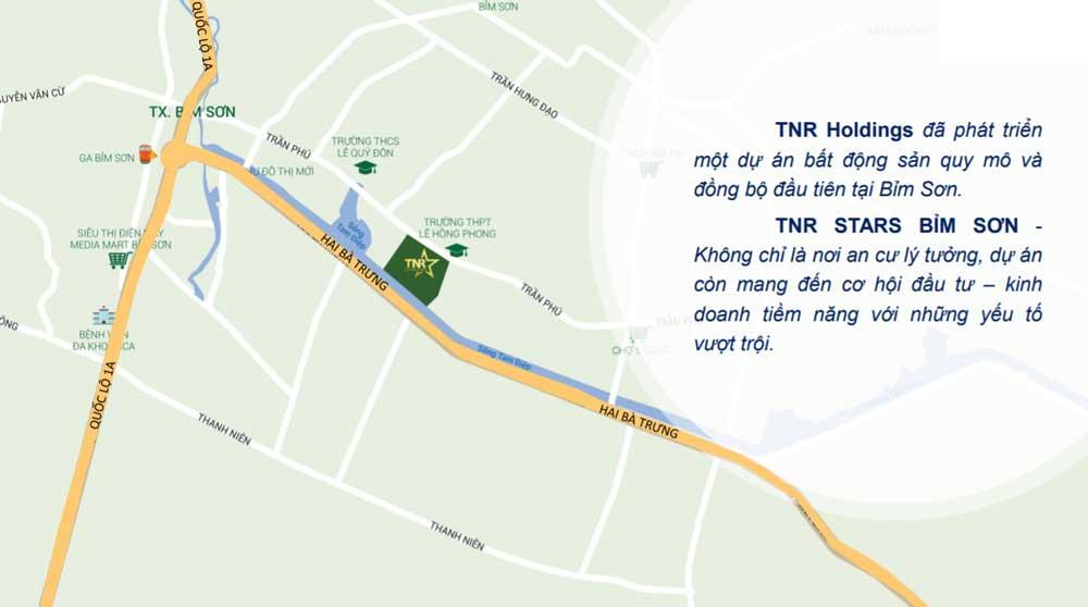 vị trí dự án TNR Stars Bỉm Sơn